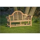 + VAT Brand New Teak - Solid Teak Lutyens Style Marlborough Bench Made From Grade A Plantation Teak