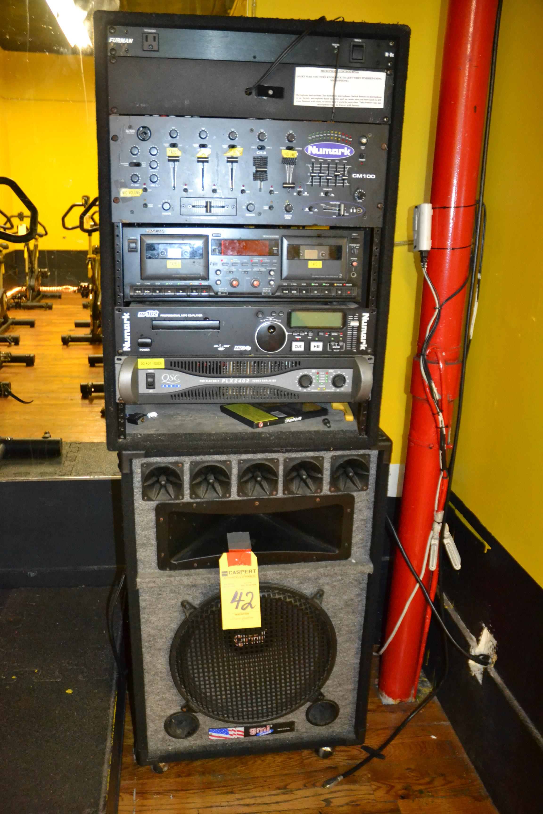 Lot 42 - SOUND SYSTEM WITH 2 GMI SPEAKERS