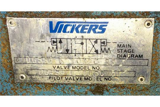 Vickers Pilot Operated Directional Control Valve, Model ... on vickers hydraulic control valve parts, vickers vane pump diagram, cross hydraulic valve diagram,