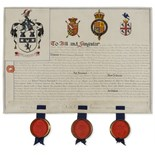 Lot 51 - Heraldry.- Burke (Sir Henry Farnham) & others. Grant of arms to Robert Duncan Marshall, 1920; and …