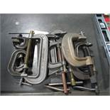 Lot: C Clamps - assorted sizes