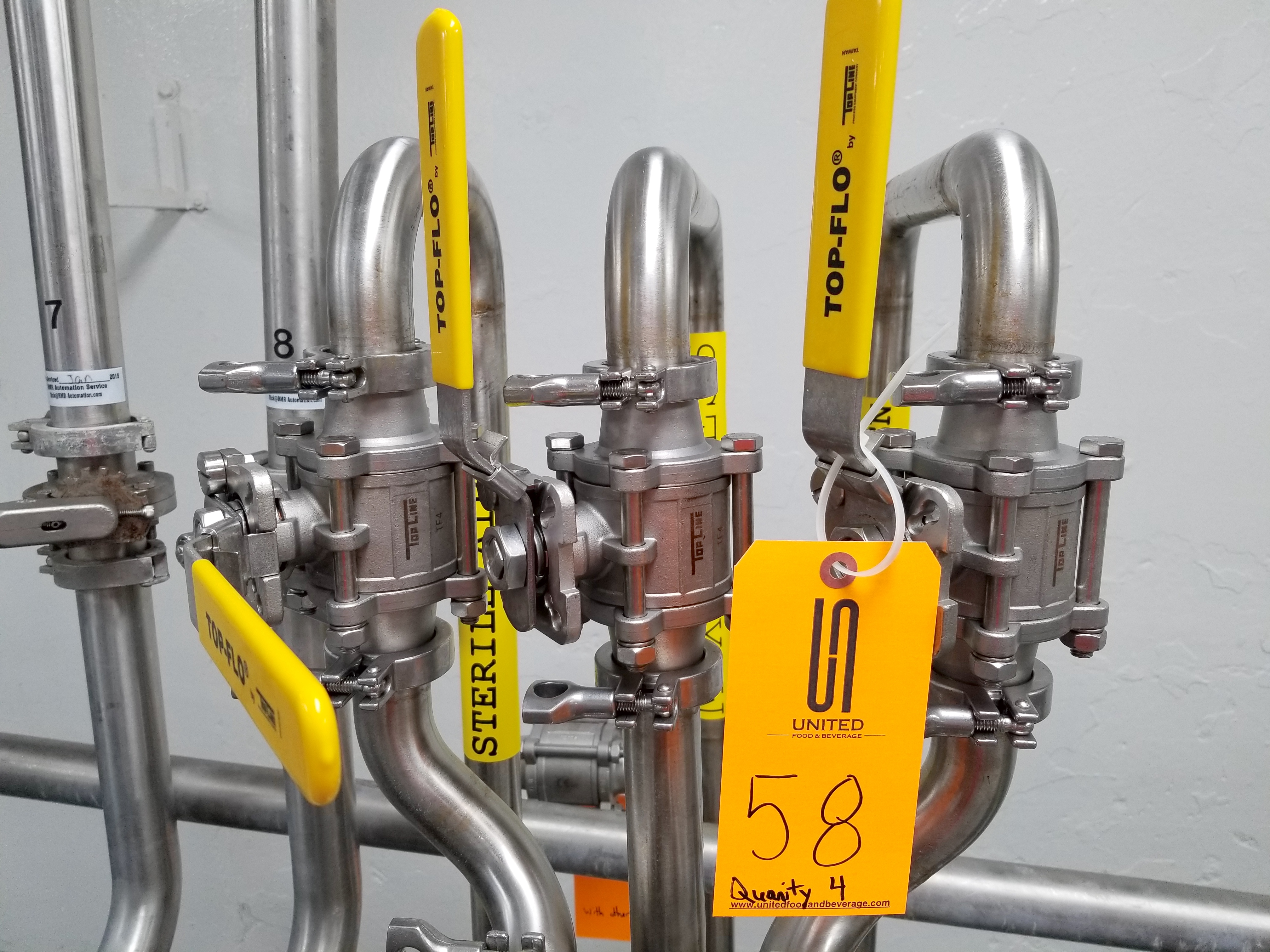 (4) Top Flo Hand Operated Valves