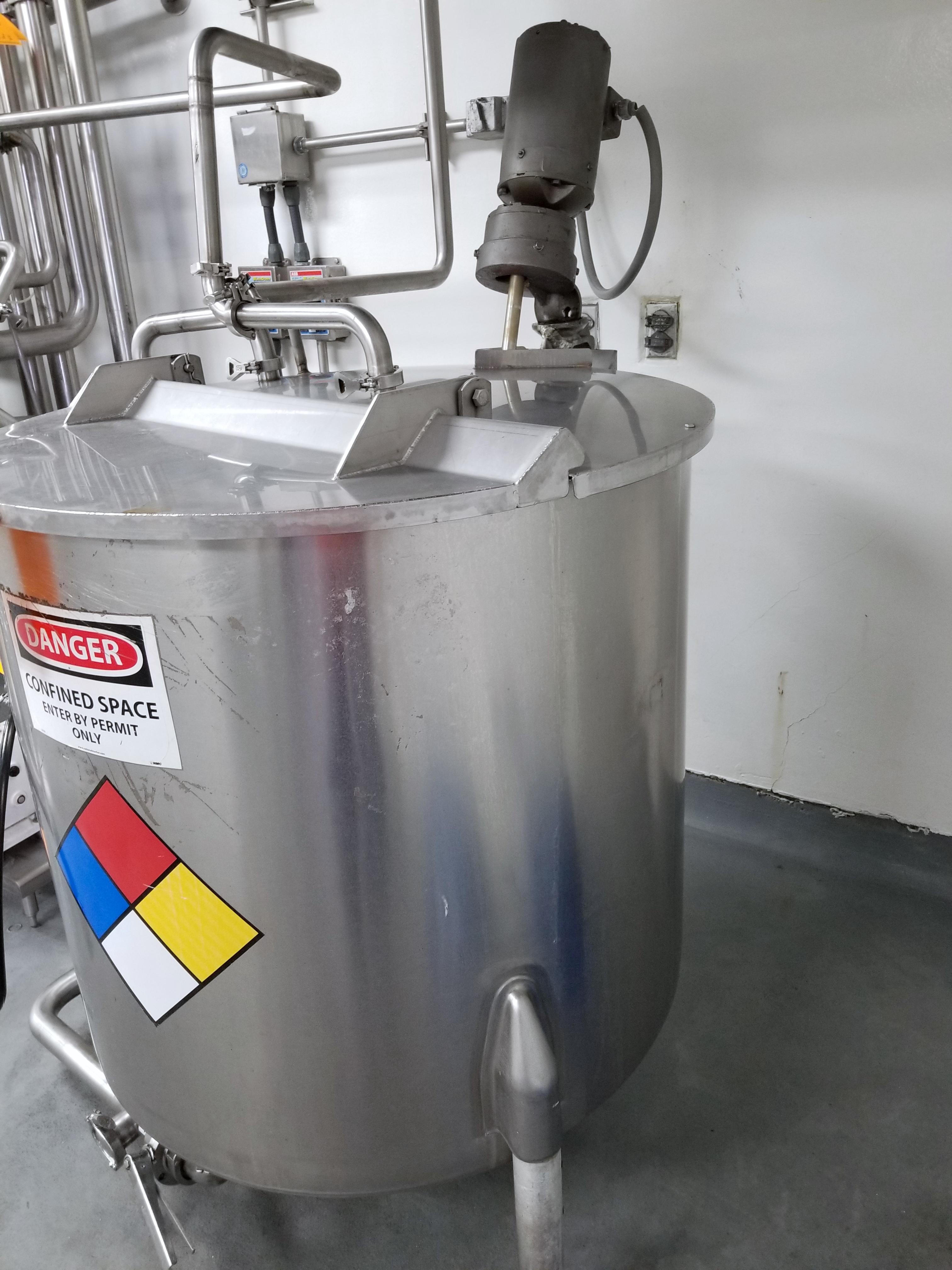 Perm-San 170 Gallon Vertical Batch Mixing Tank - Image 2 of 7