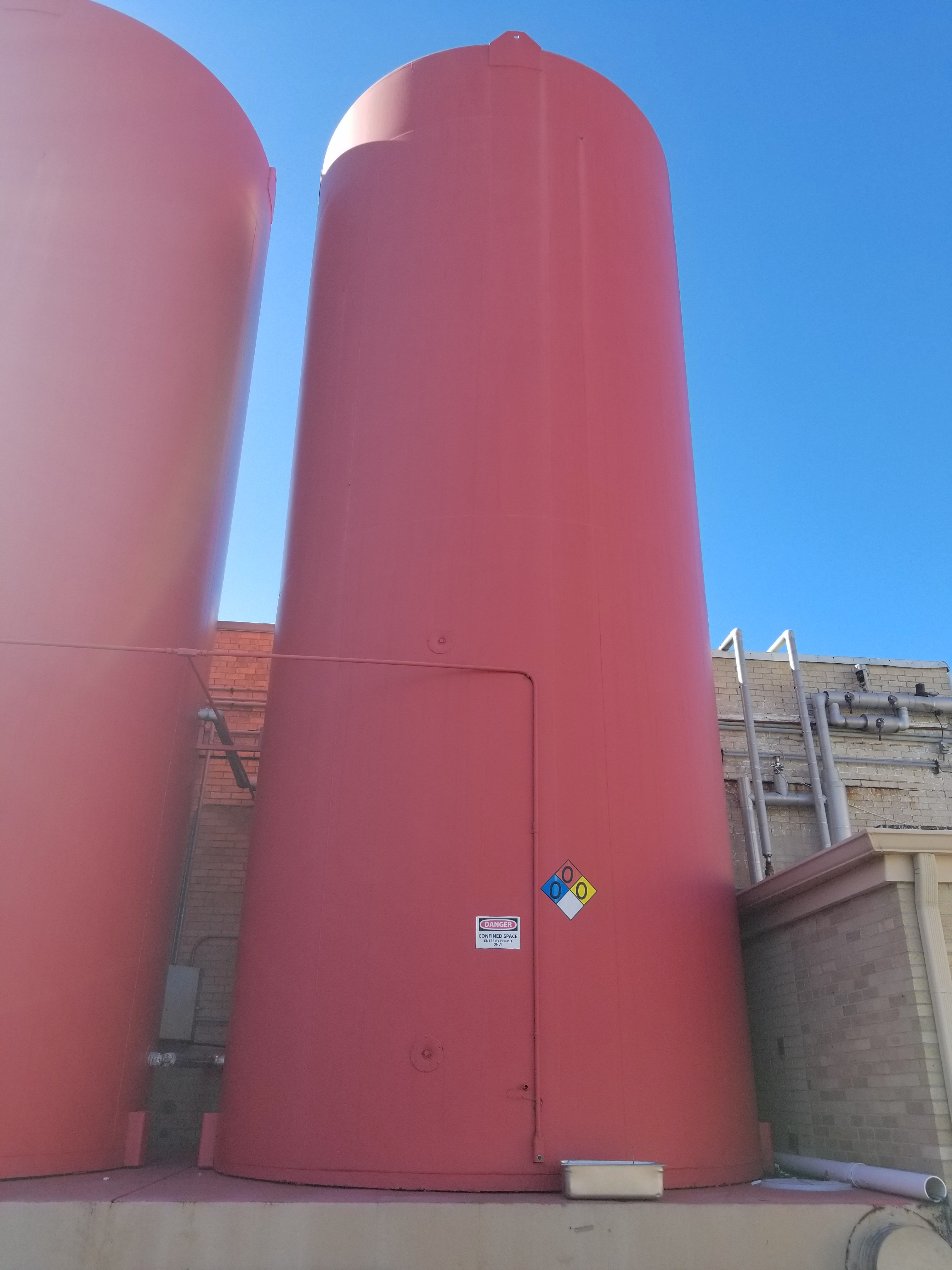 Walker 20,000 Gallon Jacketed Vertical Sugar Storage Silo