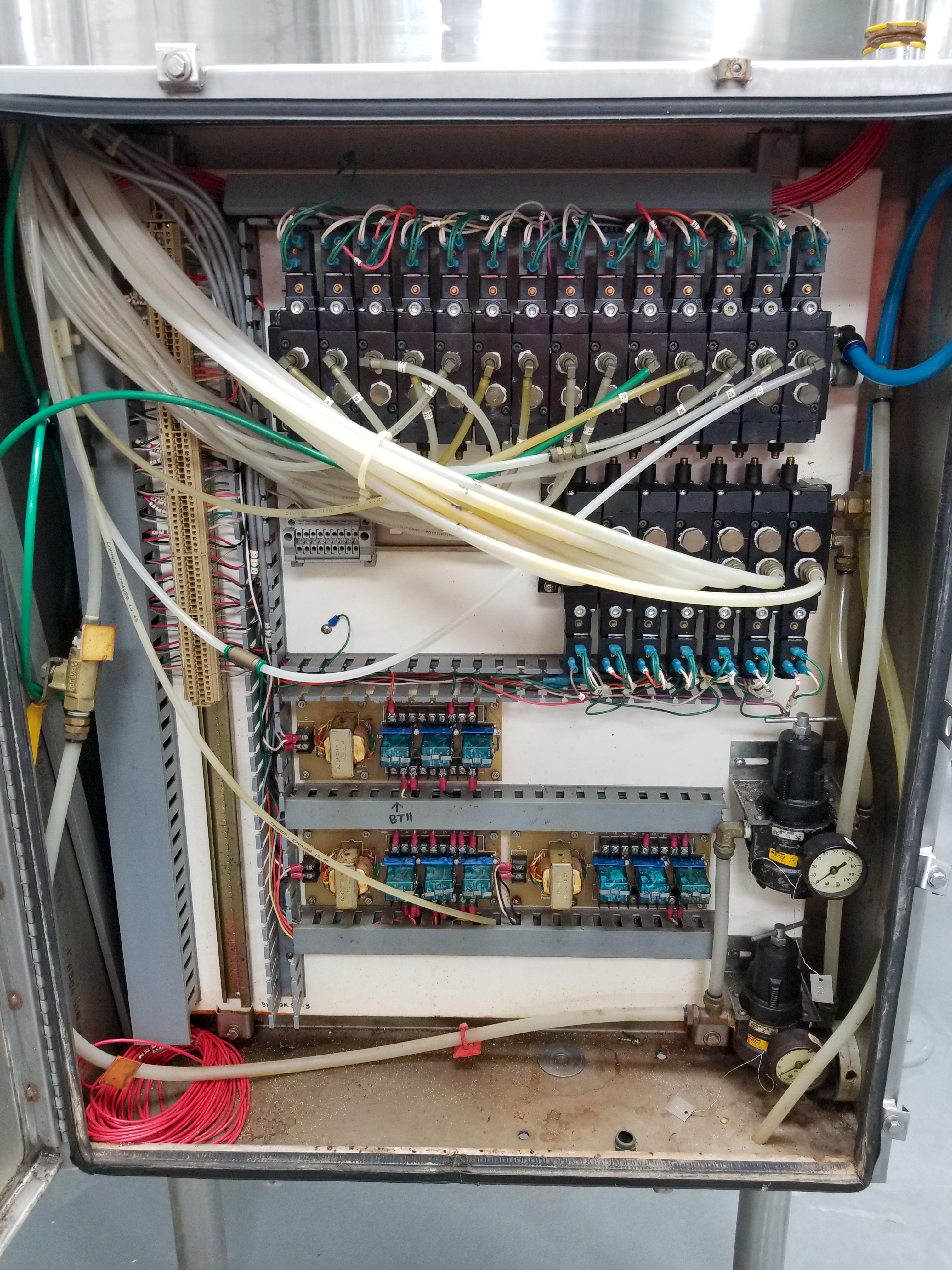Stainless Steel Panel with Solenoids - Image 2 of 2