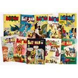 Batman Australian reprints (1950s) 93, 95-97, 99, 101-103, 105 (origin retold), 107. No 101 detached