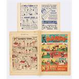 Dandy Comic No 1 (1937). With original 4 page flyer for Dandy No 1 and No 2. (A mini comic in its