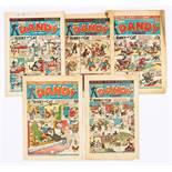 Dandy Xmas Numbers (1945-54). 203 (1945) [fr], 422 (1949) [gd], 474 (1950) [vg], 683 (1954) [vg+]