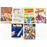 Sci-Fi No 1's + (1940s-50s). Mystery In Space 1 (L. Miller) [vg-], Captain Video 1, Fightin' Marines