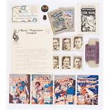 Boy's Magazine League Membership letter from the editor with Club Badge and Code Book. ZAT! card