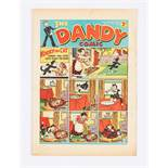Dandy No 25 (1938). Bright cover colours with some light foxing spots to four rear pages [fn]