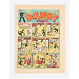 Dandy No 43 (1938). Pg 5 illustrated ad for first Dandy Monster Comic. Bright, fresh covers with
