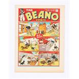 Beano No 20 (1938). Bright, fresh covers, cream pages, small chip out of cover overhang [vfn]