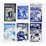 G.G. Swan booklets (1940s). Detective Shorts 1, Detective Pocket n.n, Racing Shorts 1, Schoolboy