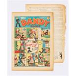 Dandy No 7 (1938). Bright covers with brittle page edges and some margin loss (more so to two