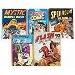 Flash Comic Annual (1949 Amex) containing Flash comics 6-11. Scarce [vg-], Mighty Comic Annual (1948