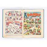 Dandy (1946) 309-334. Complete year in bound volume including two No 321 issues, one having a