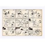 Magic Lollipops/Beano original artwork (late 1940s) drawn and initialled by Allan Morley. From the