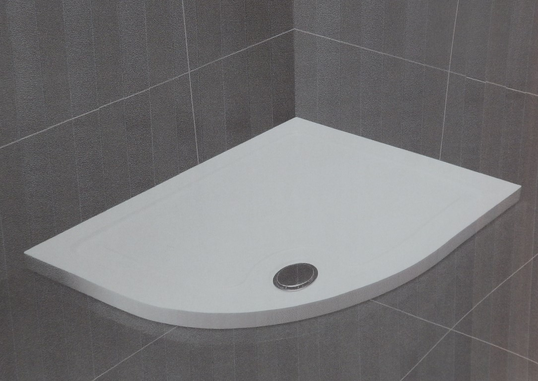 1 X Slimstone Low Profile 800mm Hand Quad Shower Tray Vogue Bathroom Bran