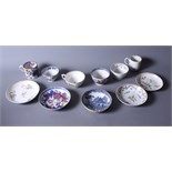 A New Hall pattern 272 tea bowl and saucer a Derby cup and saucer decorated with sprigs of