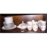 A Royal Worcester blush ivory porcelain tea and dinner combination service in the Aesthetic style of