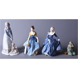 """Two Royal Doulton figures, """"Fragrance"""" HN2334 and """"Melanie"""" HN2271, together with a Spanish"""
