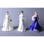 """A Royal Worcester bone china figure of Catherine Duchess of Cambridge, two Royal Doulton """"Pretty"""