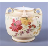 """An early 20th century Royal Worcester blush ivory porcelain vase, 3"""" high, three Poole Pottery"""