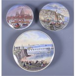 A group of three Prattware pot lids, Pegwell Bay, The New Jetty and Pier Margate and St Paul's