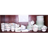 """A Copeland Spode """"Chinese Rose"""" part combination dinner and tea service, together with a Booths """""""