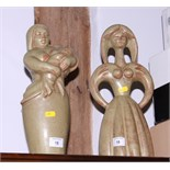 """Eric Griffiths: a Fulham Pottery ceramic figure, """"Priscilla"""", and one other"""