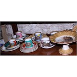An assortment of various 19th century and later Prattware dinner and tea wares, including Fenton and