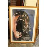 A FRAMED 1982 PINK FLOYD ' THE WALL' POSTER