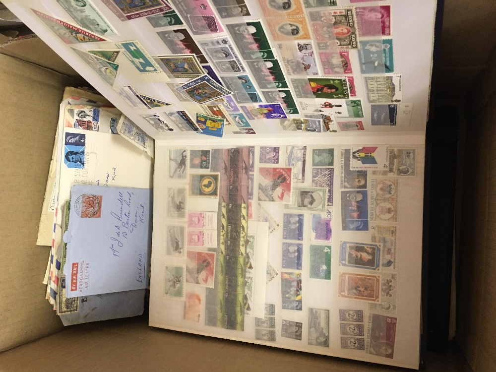 Lot 42 - STAMPS : All World glory box of albums and stock-books plus an amount of old postal history.