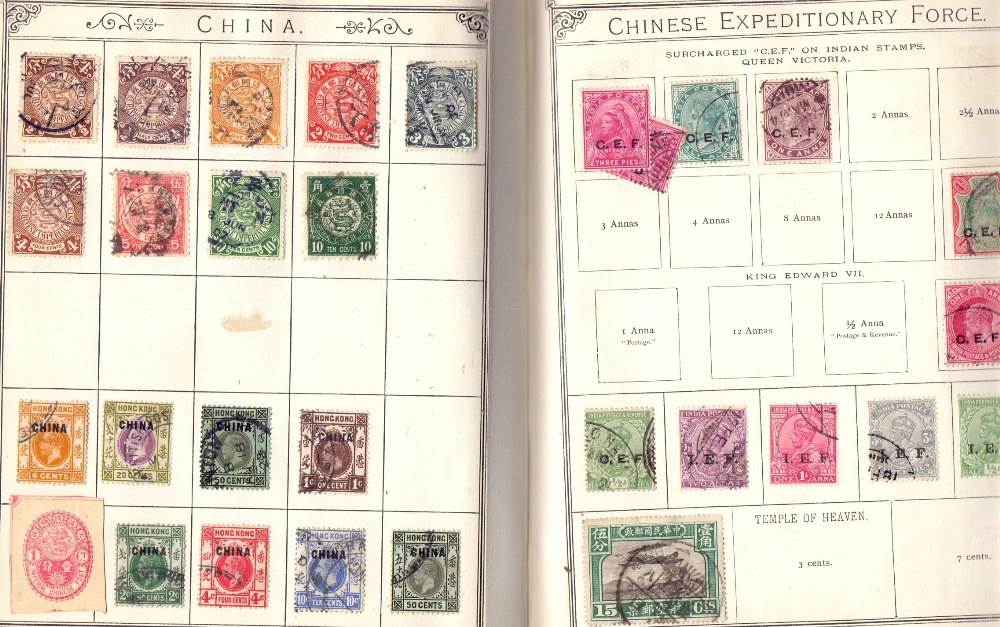 Lot 13 - STAMPS : Pretty full red Lincoln All World album, appears to be all pre 1940 period.