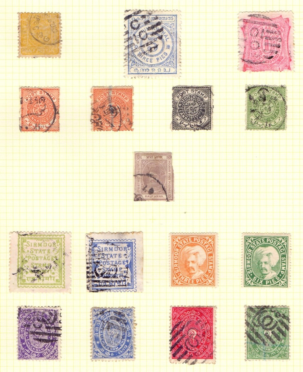 Lot 15 - STAMPS : BRITISH EMPIRE, collection of mint & used Queen Victoria issues in two springback albums.