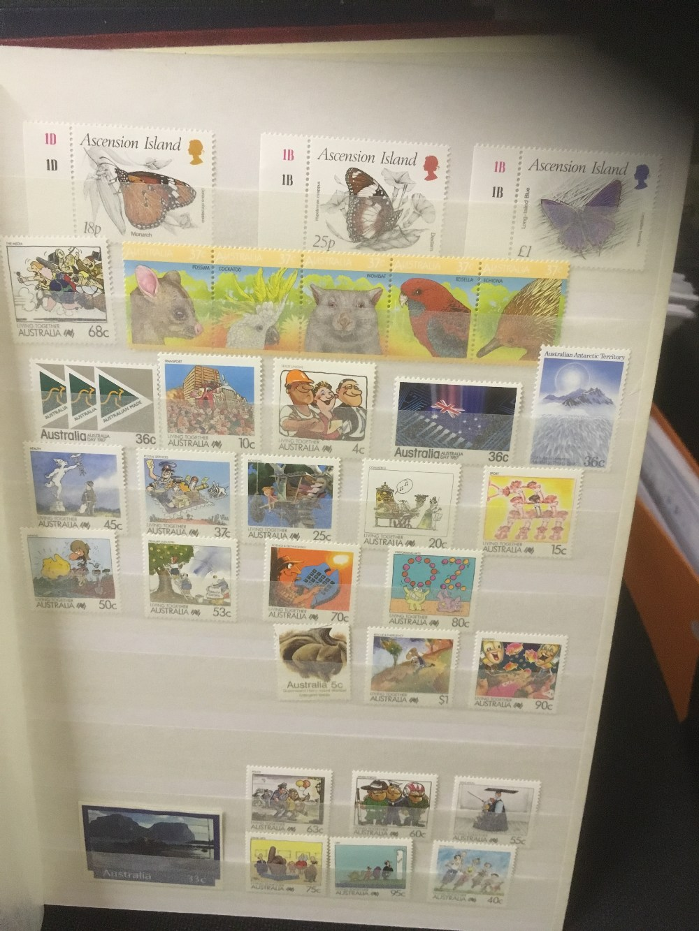 Lot 44 - STAMPS : World accumulation in four stock books, includes one of modern mint New Zealand,