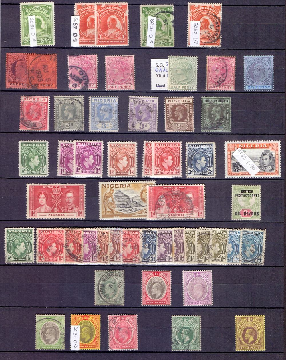 Lot 8 - STAMPS : British Commonwealth in two red stock-books,