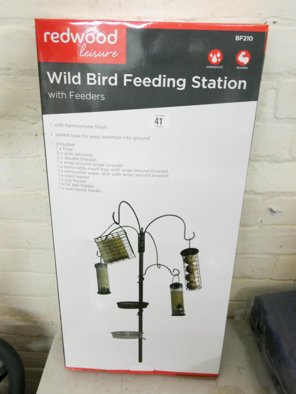 Lot 41 - A new wild bird feeding station with feeders