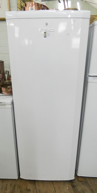 """Lot 13 - A tall Beko A Class fridge 58"""" high"""