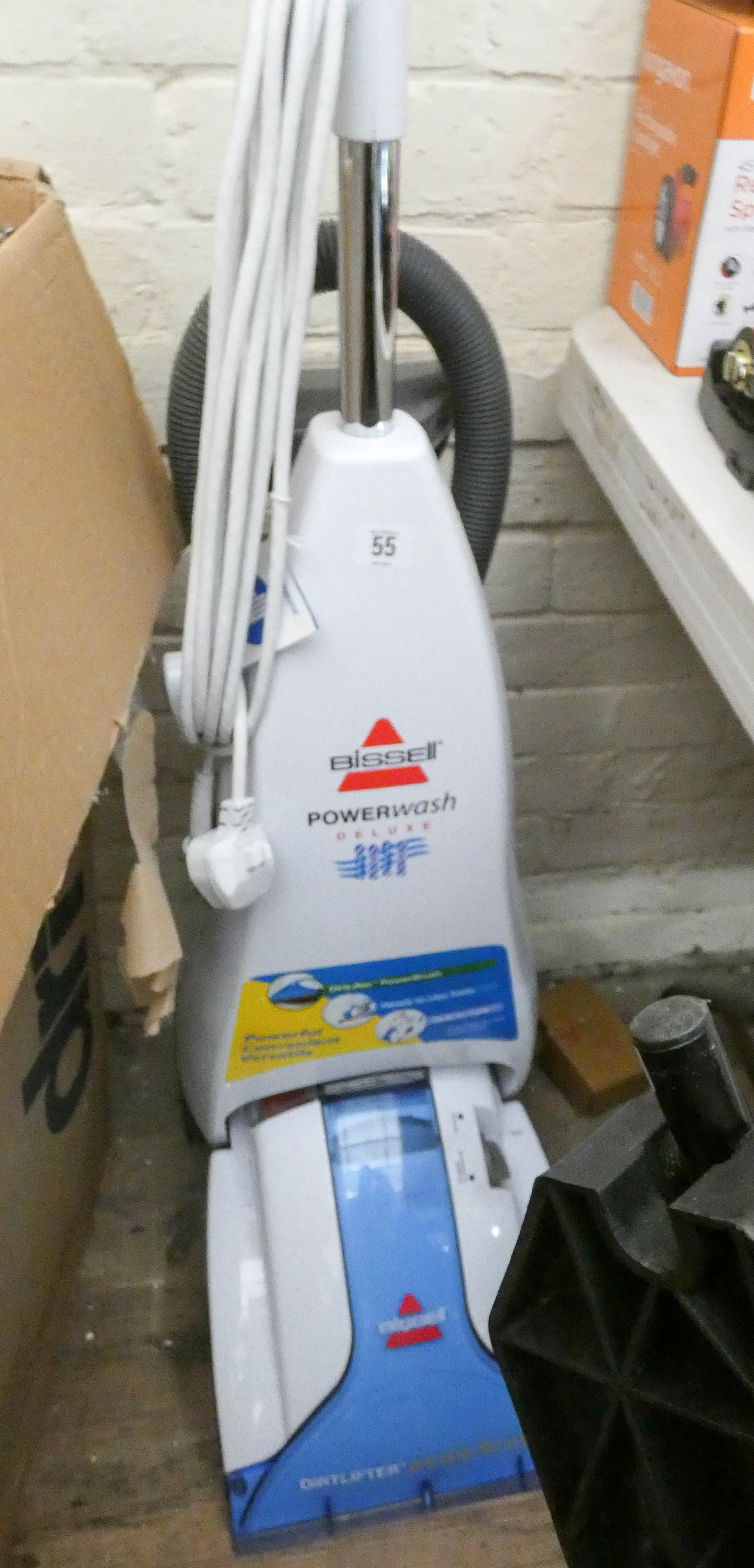 Lot 55 - A Bissell power wash deluxe carpet cleaner