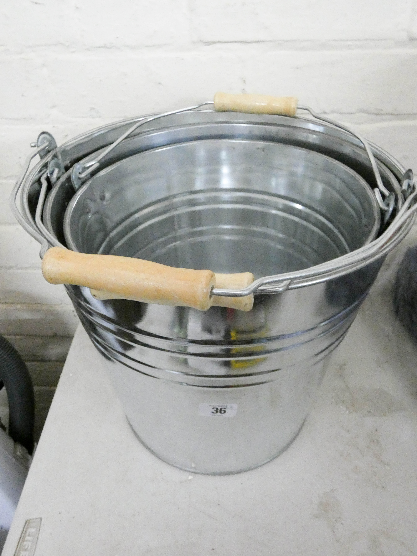 Lot 36 - A new 15ltr galvanized bucket,