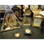 Seiko Triangular Clock, Westclox and 3 others