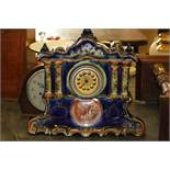 Continental porcelain mantel clock