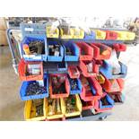 ROLLING RACK WITH CONTENTS