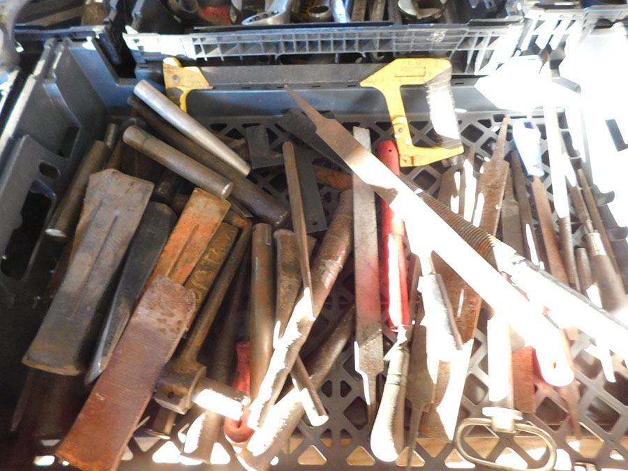 LOT OF STEEL BRUSHES, FILES, AND STEEL WEDGES - Image 3 of 3