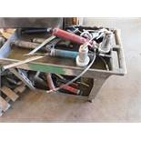 ROLLING CART WITH ASSORTED GREASE GUNS