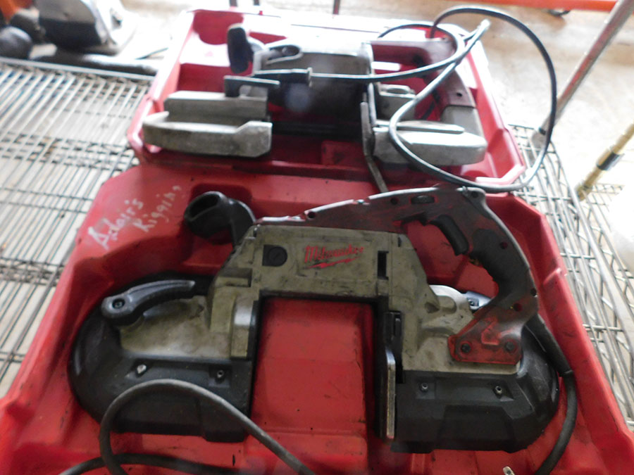LOT OF (2) MILWAUKEE ELECTRIC BAND SAWS