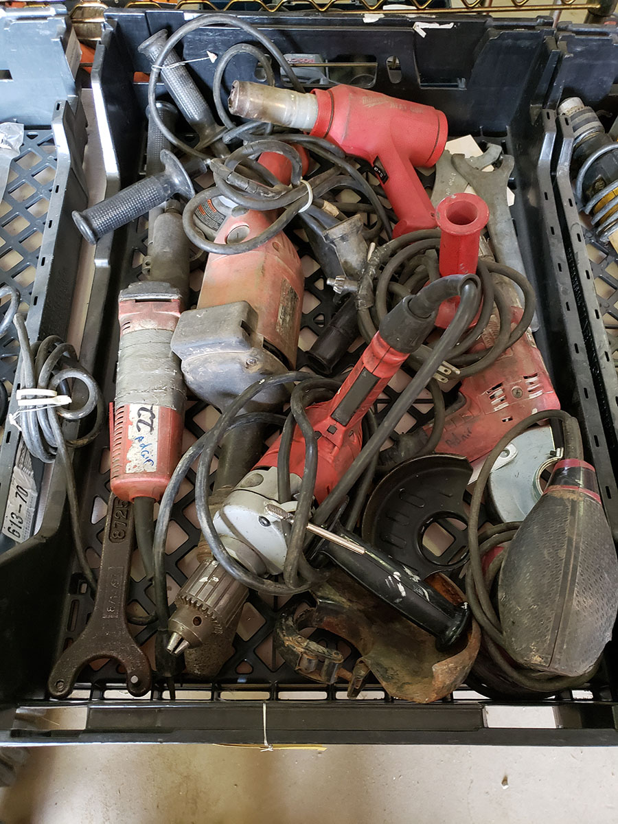 LOT OF ASSORTED MILWAUKEE ELECTRIC TOOLS