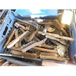 LOT OF STEEL BRUSHES, FILES, AND STEEL WEDGES